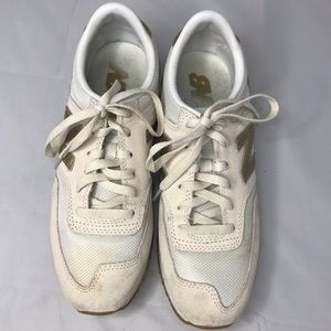 New Balance CW620JD2 Cream Gold Sneakers 7.5